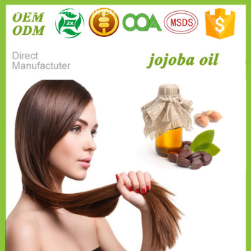 Private label 100% pure organic essential oils Jojoba oil for hair