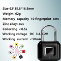 Hot Sales Fingerprint Padlock for Door Luggage Bag
