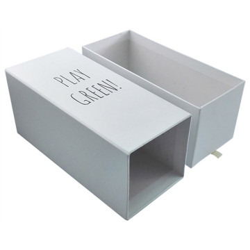 Sliding chipboard paper with ribbon cosmetic box