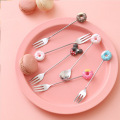 304 stainless steel small cute cartoon fruit fork