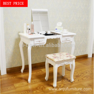 Modern drawers wooden vanity dressing table stool Bedroom dresser