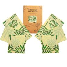 6pcs/Set 2S 2M 2L Reusable Sustainable Natural Zero Waste Plastic Free Food Storage Wrap Wrapper Beeswax Wraps