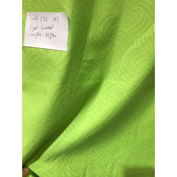 Polyester Green Color Embossed Microfiber  Fabrics