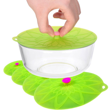 FDA Approved Colorful Flexible Silicone Lid Set