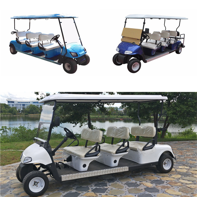 6 Seaters Golf Carts with 2 rear seats
