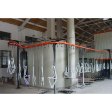 spray on metal coating line
