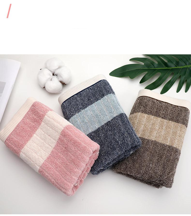 Gift towel customized logo cotton adult water absorbent soft face towel bath towel set of three (3)