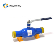 pipeline use worm gear double exhaust weldless natural gas ball valve