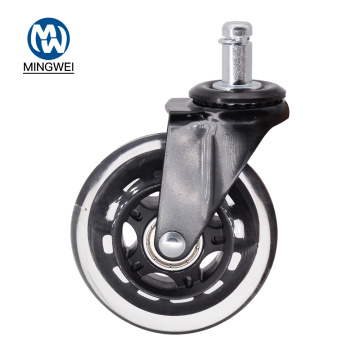 3 Inch Transparent PU Furniture Caster