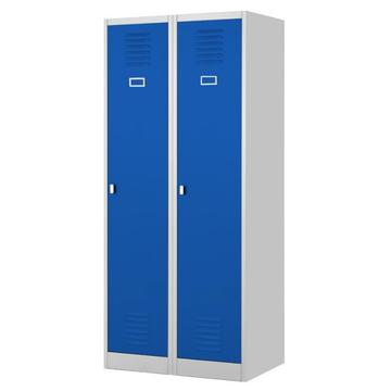 Blue Two Door Storage School Locker