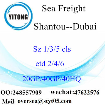 Shantou Port Sea Freight Shipping To Dubai
