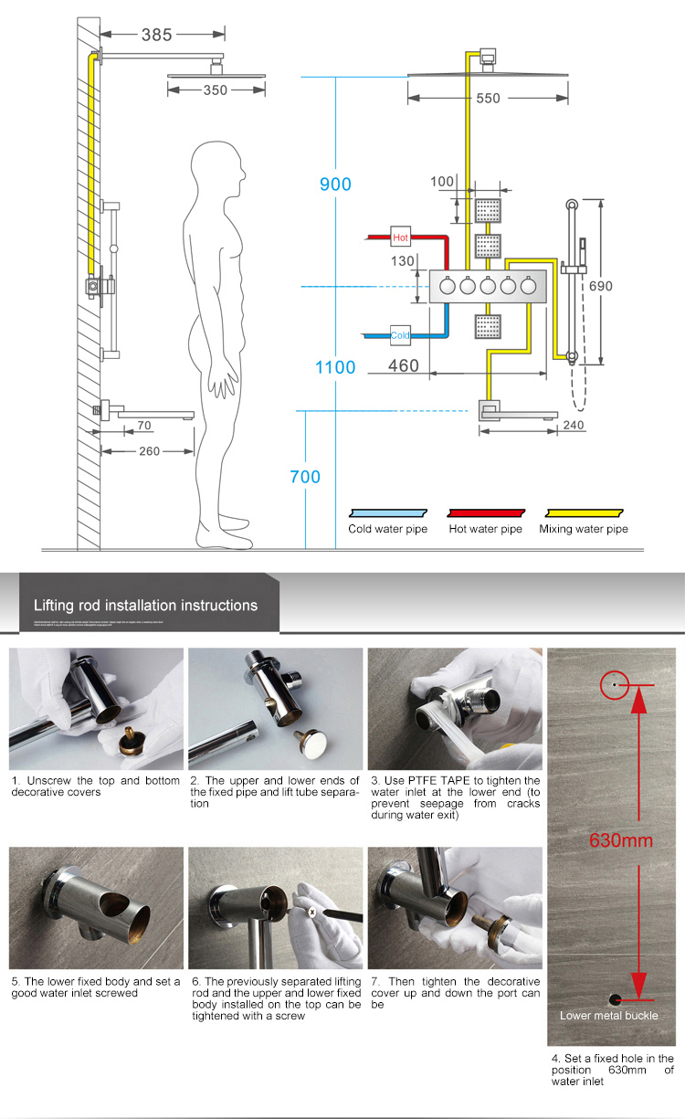 Thermostatic Shower Faucet