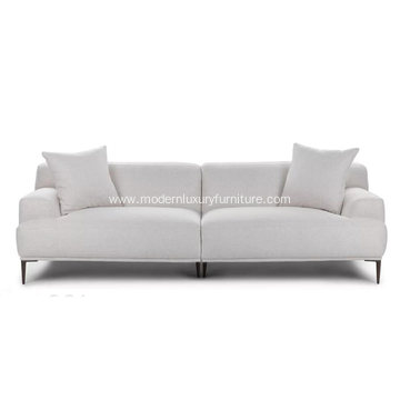 Modern Abisko Mist Gray Fabric Sofa