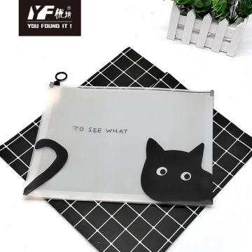 Cartoon cat  style PP zipper file holder