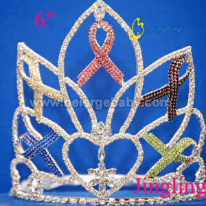 Aids rhinestone crown beauty pageant tiara