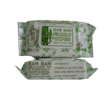 Custom 80pcs Economic Bamboo Baby Wipes