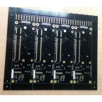 6 layer black solder PCB with 3 workdays