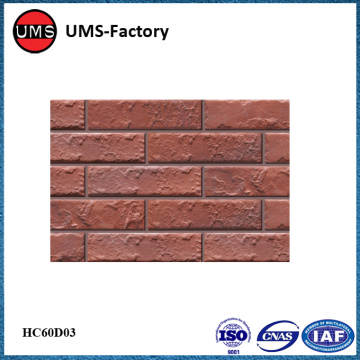 Thin textured brick effect tiles exerior
