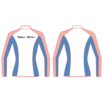 Seaskin Polyester Long Sleeve Rash Guard Womens