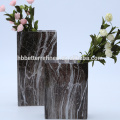 Marble Effect Square Glass Flower Vase