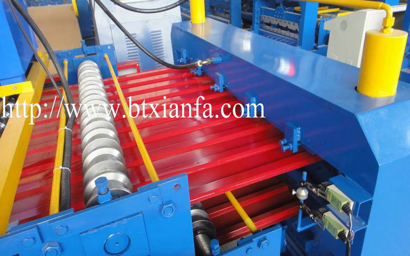 steel metal decking machine