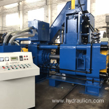 Horizontal Automatic Scrap Steel Chippings Briquetting Line