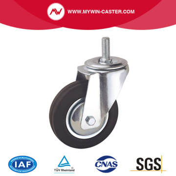 Threaded Stem Swivel Rubber Industrial Caster