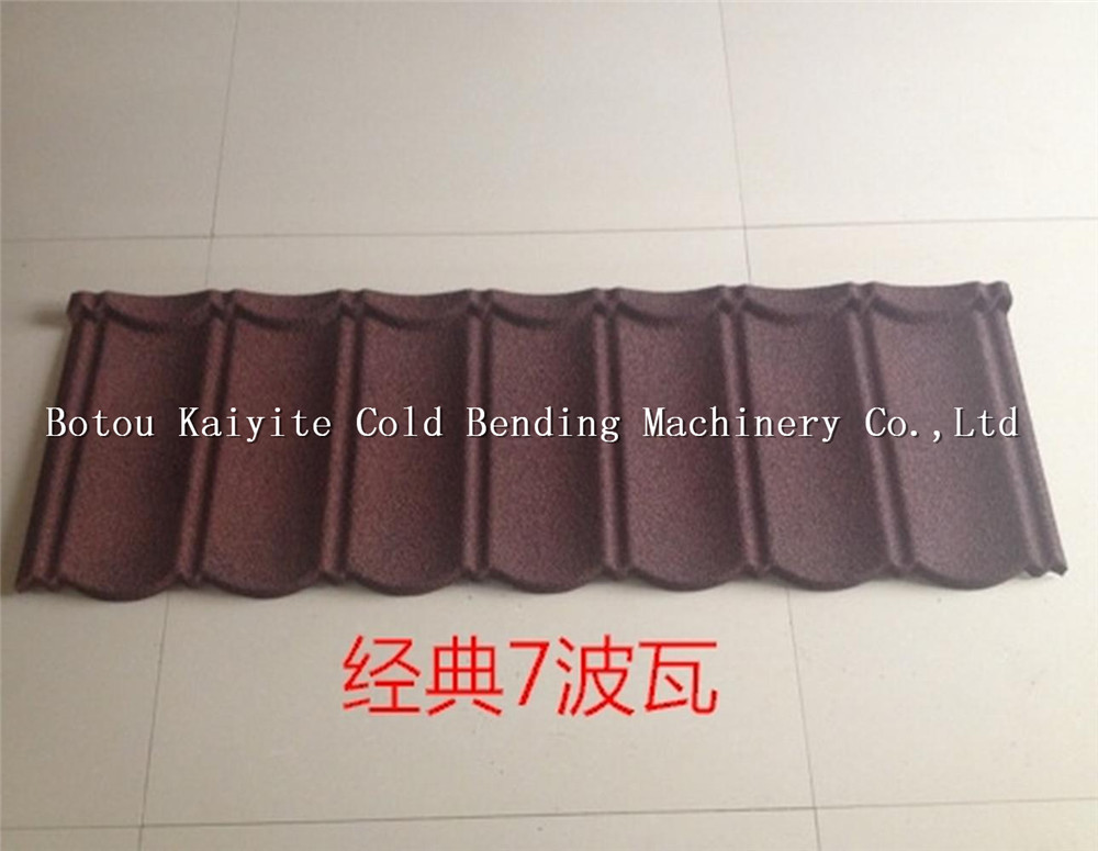 colorful stone coated metal roof tile machinery