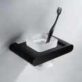 HIDEEP Full Copper Bathroom Black Toothbrush Cup Holder