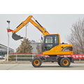 Rhion equipment excavator on wheels