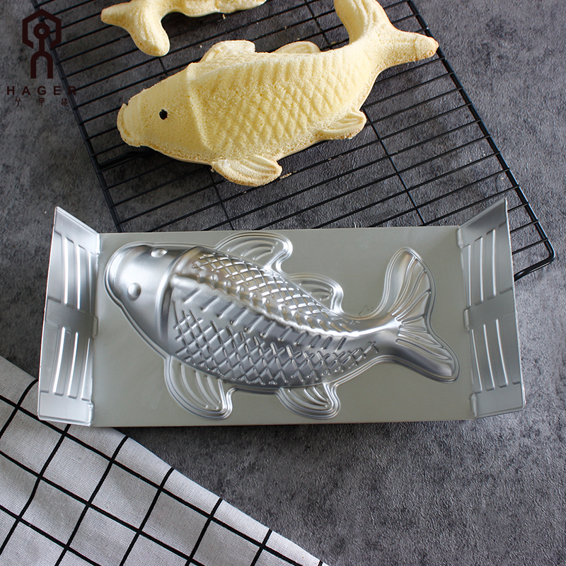 3D Fish Shape Aluminium Alloy Cake Pan04