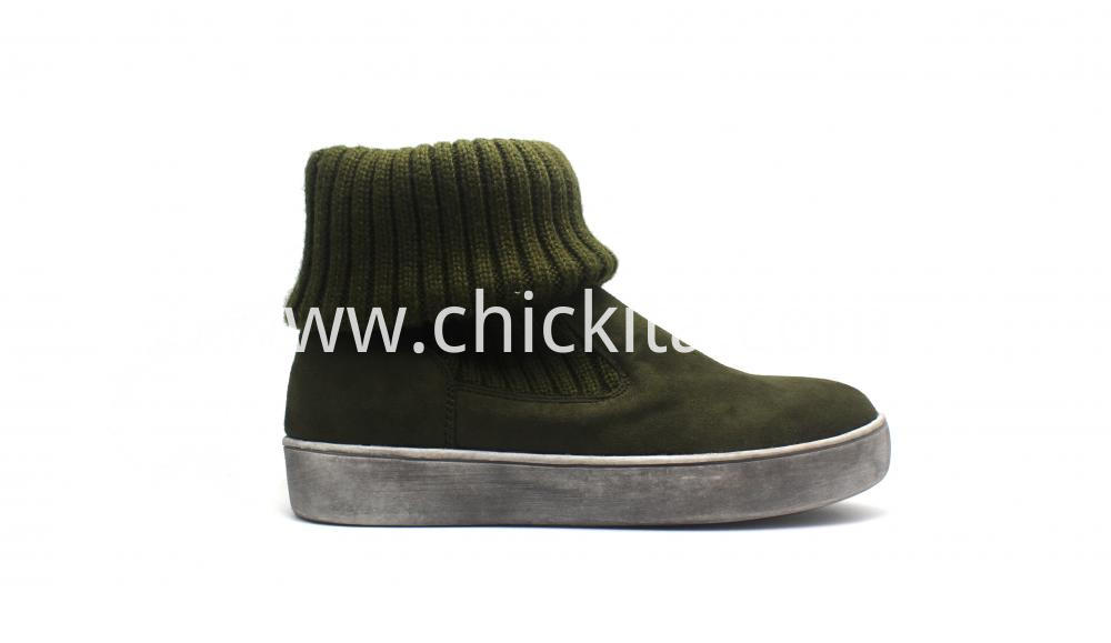 Women Sock Boots On Brush Outsole
