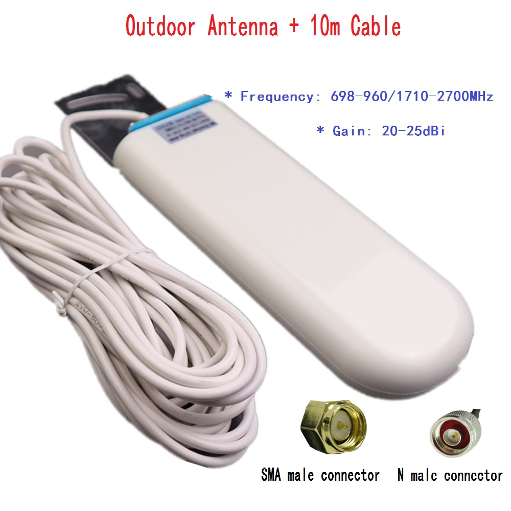 Communication Outdoor antenna for wifi router 2G 3G 4G Repeater gsm cdma dcs pcs mobile signal amplifier UMTS LTE signal booster