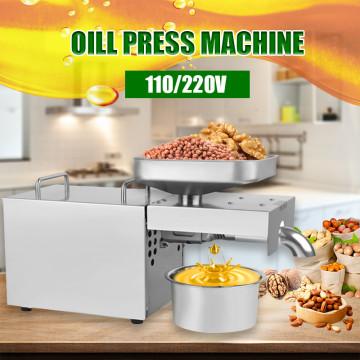 110V/220V Oil Press Machine Small Business Equipment Machine Stainless steel oil pressure Peanutss Sesame Nut Oil extractor