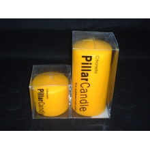 Yellow Relaxing Smooth Surface Pillar Candle