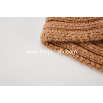Women's Knitted Cable Cross Warm Infinity Scarf