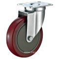 5inch Swivel Red PU With Cover Castors