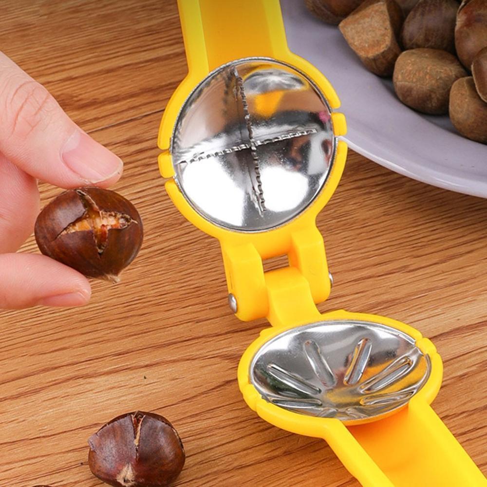Multifunctional chestnut opener Practical Chestnut Opener Clamp Chestnut Peeler Knife Walnuts Clip Nut Cracker Kitchen Tool @25
