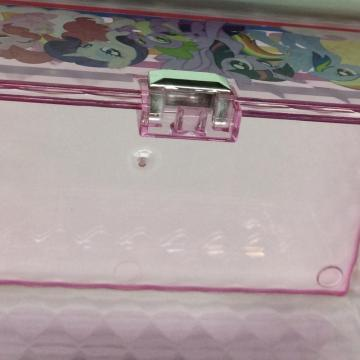 Plastic storage box with diamond pattern