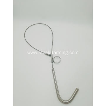 stainless steel 304 Pig swine cable snare catcher