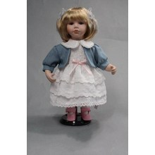 14 Inches A Coat Porcelain Doll