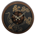14 Inches Bird-pattern Rustic Gear Wall Clock