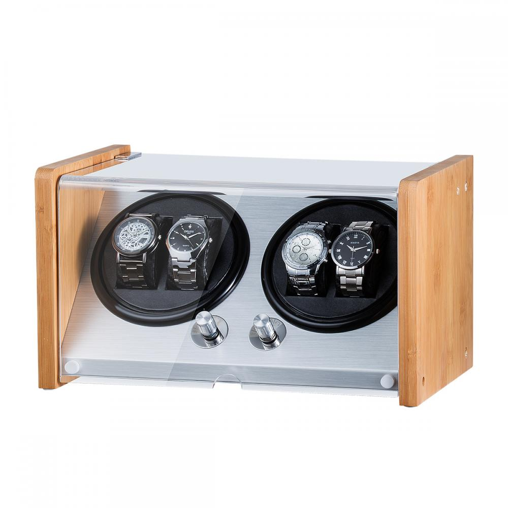 Bamboo Double Rotor Watch Winder