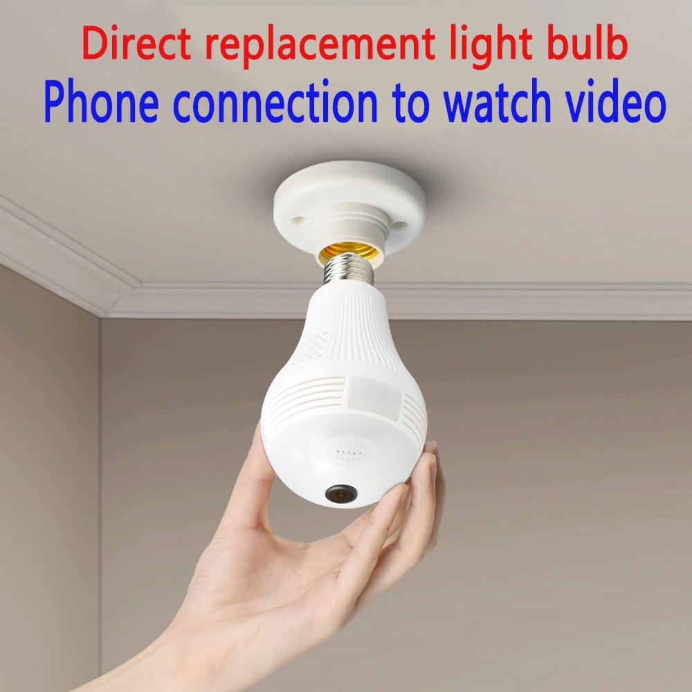 Mini IP Camera 360 Degree LED Light 960P Wireless Panoramic Home Security Security WiFi CCTV Fisheye Bulb Lamp Two Ways Audio