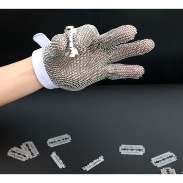 Stainless steel butcher safety ring mesh gloves