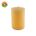 wholesale pure paraffin wax yellow pillar candles