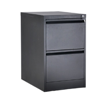 Black 2 Drawer File Cabinet