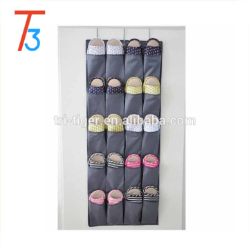 24 Pocket Over The Door Hanging Shoe Rack Organizer Storage clothes wall hanger