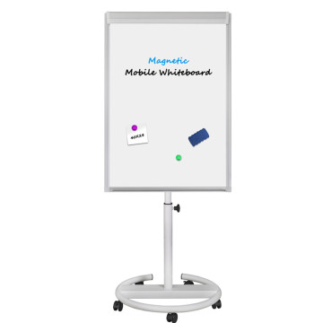 Magnetic Mobile 40x28 Flipchart Easel Stand with Markers