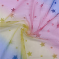 100% Polyester Fancy Rainbow Tulle for Decoration